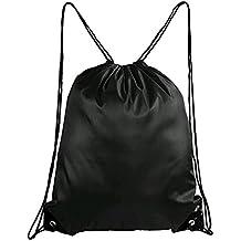 "Laat bolsas de zapatos de viaje bolsas Fourre-tout de zapatos impermeables y moistureproof en Nylon portátil con cordón de presión cierre, Robe maleta viaje -15,3""x13,3, negro"