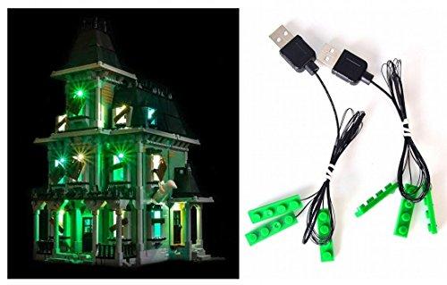 LED-Beleuchtungsset für Lego Spukhaus 10228 auch lego 16007 Lego Licht Kit Led Lego Beleuchtung Lego Lichter Bausteine Lego kompatibel. haunted house (Licht-lego-bausteine)