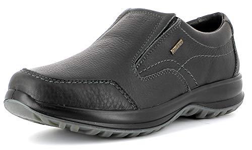 Leder-moc-loafer (Grisport Leather Moc,Männer,Herren_Halbschuh,wasserdicht, bequem, hochwertiges Leder, Active-System, hoher, Rutschfest,Schwarz, 43)