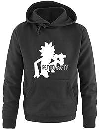 Comedy Shirts - Get schwifty - Rick and Morty - Herren Hoodie - Kapuze, Kängurutasche, Langarm, Print-Pulli
