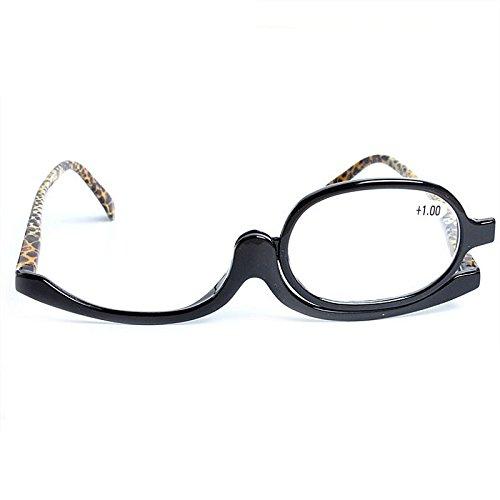 Bluelover Rotación Gafas De Maquillaje Anteojos De