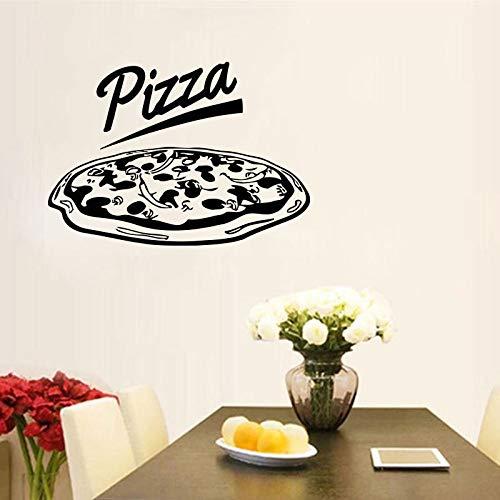 Moderne Küche Restaurant Decor Italien Lebensmittel Pizza Wandaufkleber Vinyl Abnehmbare Pasta Italienische Küche Decals Fenster Dekoration 60X42CM -