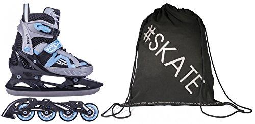 SET - SPOKEY AVIAN Inline Skates / Schlittschuhe mit austauschbarer Schiene + ULTRAPOWER Beutelrucksack | Kinder | Damen | Herren | Inliner | Blades | Rollen | Kufe...