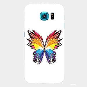 Back cover for Samsung Galaxy S6 Edge Abstract Butterfly