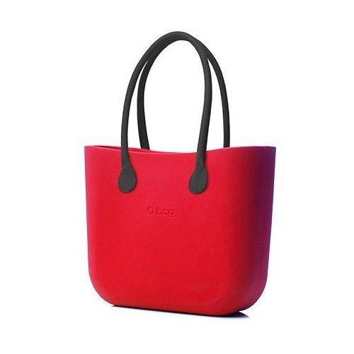 Borsa o bag grande rossa con manico lungo nero e sacca new collection ai 2017\18 (k)