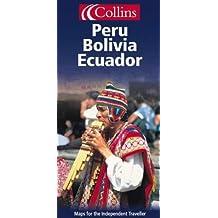 Carte routière : Peru, Bolivia and Ecuador (en anglais)