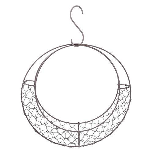 Yardwe Eisendraht Kranz Rahmen Sukkulenten Topf Mondförmige Metall Hängen Pflanzenhalter Blume Hängenden Korb