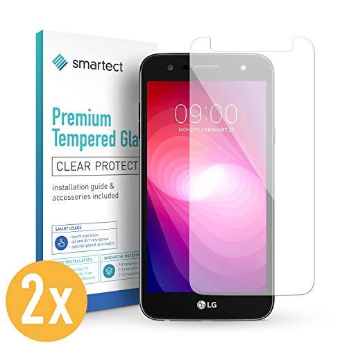 smartect Panzerglas für LG X Power 2 [2 Stück] - Bildschirmschutz mit 9H Härte - Blasenfreie Schutzfolie - Anti Fingerprint Panzerglasfolie