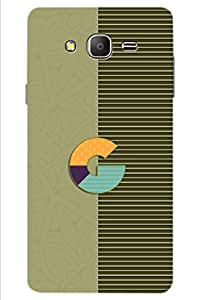 AMAN G Letter 3D Back Cover for Samsung Galaxy On7 Pro