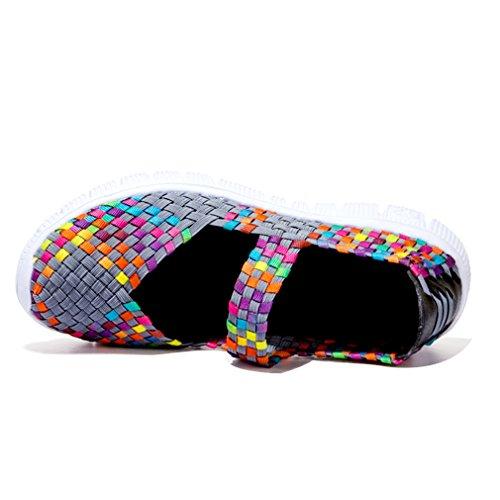 Tribangke Ladies Casually Flip Sandali Mocassini Flats Summer Water Shoes Grigie