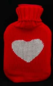 Gisela Graham scandinave Bouillotte tricot &&- Rouge c #x153; ur Blanc