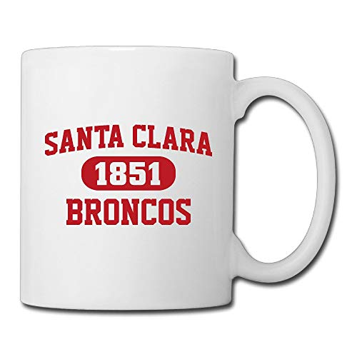 LUOBOGAN Santa Clara Broncos Ceramic Custom Coffee/Tea Mug White 11oz For Funny Gifts
