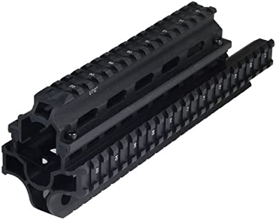UTG Taktische Profilschiene Saiga Schienensystem - Riel para armas de airsoft, color negro