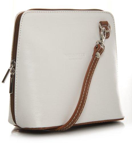 Big Handbag Shop, Borsa a tracolla donna One White - Tan
