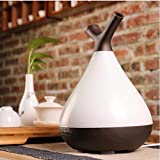 Essentielle ÖlDiffuser, 400ml Ultraschall-Kaltnebel-Humidifier/Holz-Grain-Aroma Diffuser, LED Light Gradient Color, Bedroom/Room/Office/Baby Room/Yoga,Black