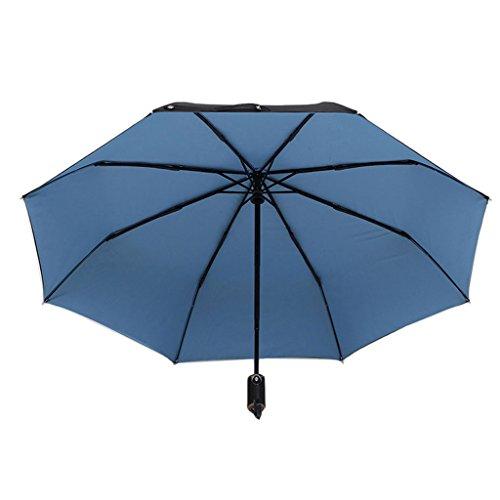 Regenschirm, der das Geschäft der automatischen Männer übergroßen faltet (Farbe : Blue)