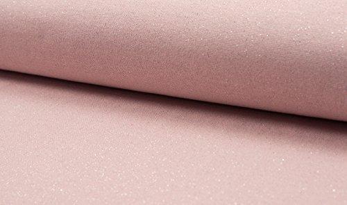 (11,00 € / M) Bündchen Bündchenstoff Rib Cuff Lurex - Pink (Spandex Sterne)