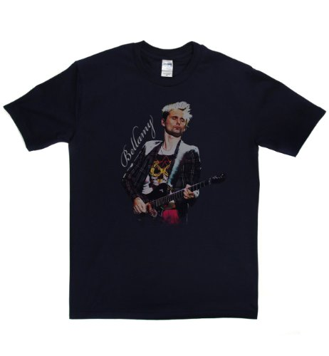 Matt Bellamy Live English Prog Alt Rock T-shirt Marineblau