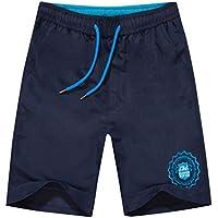 Pantalones de secado rápido Hombres Casual Boardshorts Holiday Loose Beach Shorts Travel Blue
