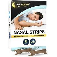 SleepDreamz Nasenpflaster! 30 Große Nasenpflaster für alle Nasentypen - Monatsvorrat - Entworfen zur Bekämpfung... preisvergleich bei billige-tabletten.eu