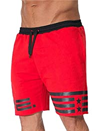 Longra 2018 Hot Sale Men s Flag Stars Sporting Beaching culturismo  pantalones cortos Jogger corto gimnasios cortos e578259e7215