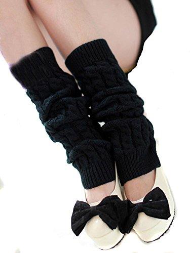 nsstar femmes hiver chaud tricot Jambières chaussettes longues pour femm