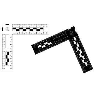 Tatort/Photo Angle Ruler Plastic, 10 x 10 cm, White, 1