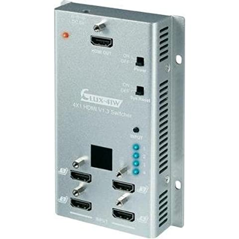 SpeaKa Professional 4 Port HDMI-Switch per Wandmontage, con telecomando, 3D-Wiedergabe möglich 1