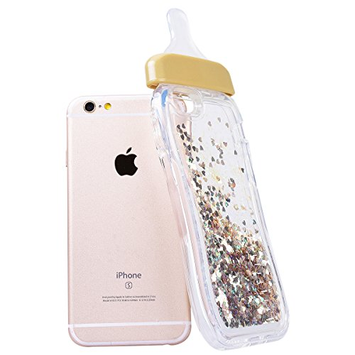 WE LOVE CASE iPhone 6 Plus / 6S Plus Coque, Étui Transparente de Protection en Premium Silicone Housse Souple Mince et Clair, Bumper Gel Bling Cas Briller Couverture Paillette Motif Diamante Brilliant or