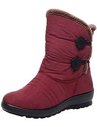 Botas Mujeres CuñasMujeres, LANSKIRT Mujer Invierno Zapatos a Prueba de Agua Botas Cortas de Nieve Calzado Mantener Caliente Zapatos