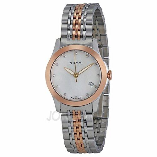 d825b0dfeb4 Gucci Gucci intemporal Diamante Bicolor Damas Reloj YA126514