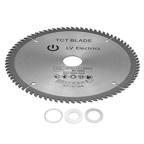 Delaman Kreissägeblätter 210mm x 30mm für Metall Holz Stein Glas Kunststoff Cordless Cutting Saw Disc 80T Zähne