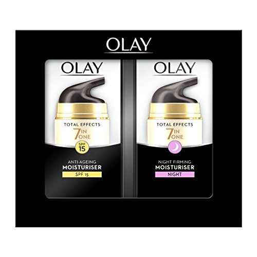 Olay Total Effects 7 en 1, Crema diurna y nocturna facial (anti-edad, SPF15, piel seca) - 40 ml.
