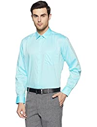 Symbol Amazon Brand Men's Solid Regular Fit Cotton Shirt