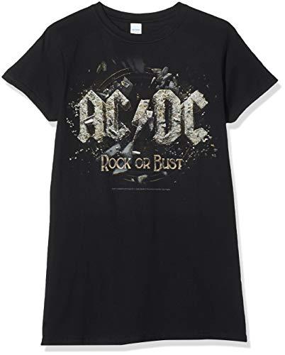 AC/DC - ROCK OR BUST Girlie Shirt, Größe XL