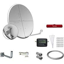 Tecatel E60C1LSCCK1 - Kit parabólica 60 cm, soporte, LNB universal, cable, conectores, grapas, bridas y buscador