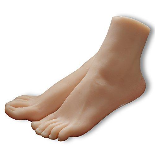 kumiho Maniqui de pie Modelo de pie Molde de pierna Modelo de pie de mujeres Calcetines Medias Zapatos Cadena de pie Modelo de exhibición Collar de tobillo Molde de zapatos de tacón alto Tamaño real Piernas hermosas Expositor de joyas,El material principal:TPE 3803