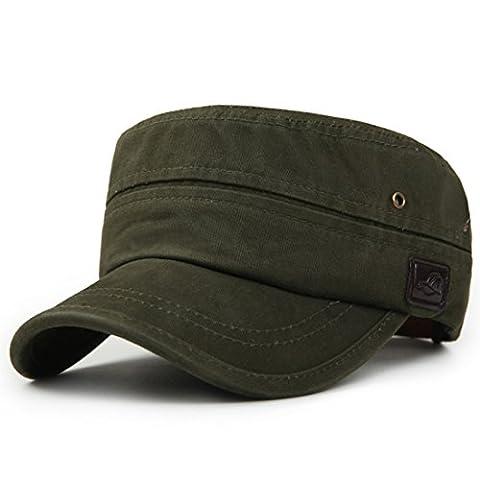 Kuyou Unisex Sport Outdoor Kappe Baumwolle Military Army Cap (Grün)