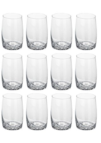 Somil New Design Beverage Tumbler Clear Transparent Drinking Glass Set of 12 at amazon