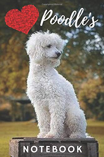 Poodle Notebook: cute poodles gift for children who love animals and dogs (blank lined notebook) best for writing notes, ideas and stories for home ... / journal for journaling / poodle journal -