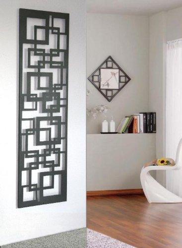 Wandgarderobe  Garderobe Design Quadrat, 140x40x2 cm, moonstone (Marke: Szagato, Made in Germany) (Kleiderständer, Garderobenständer, Wandpaneel, Wanddeko)