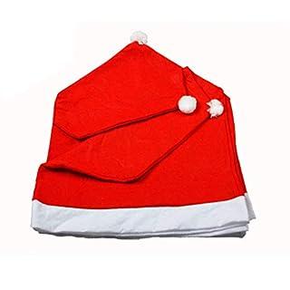Ncient Oplon 4 Stück Streifenmuster Weihnachtsmütze Basteln Stuhl Decke Haus Dekoration Stuhlkissen
