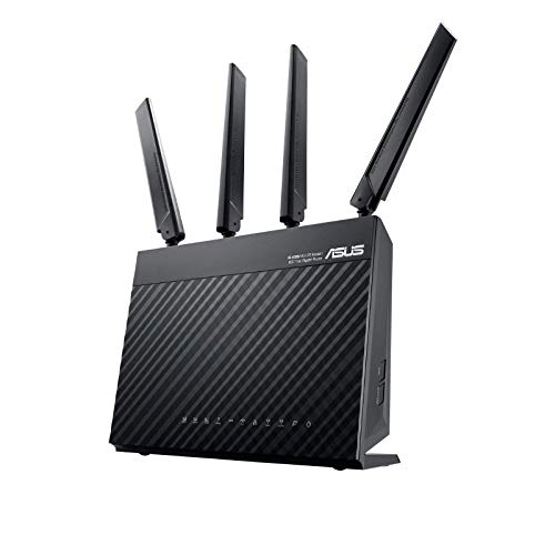 Asus 4G-AC68U AC1900 LTE WLAN-Router (Ai Mesh WLAN System, Wi-Fi 802.11ac, SIM Slot, LTE Cat. 6 bis zu 300 Mbits, AiProtection)