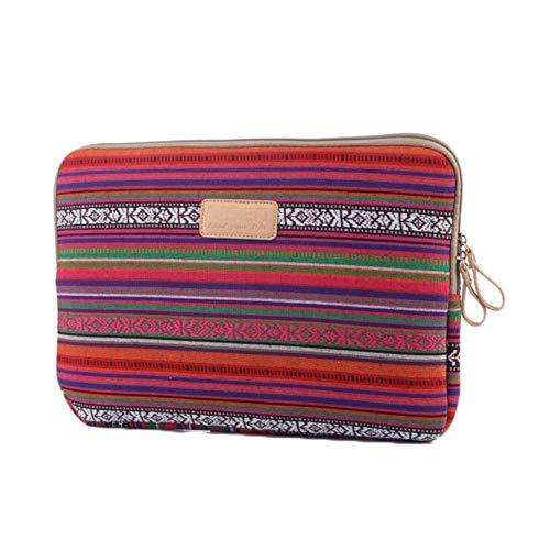 6-15 Zoll Schutzhülle Laptop Hülle Sleeve Tasche Kompatibel MacBook Air/Ipad, Stoßfeste Tasche Dunkelrot 10