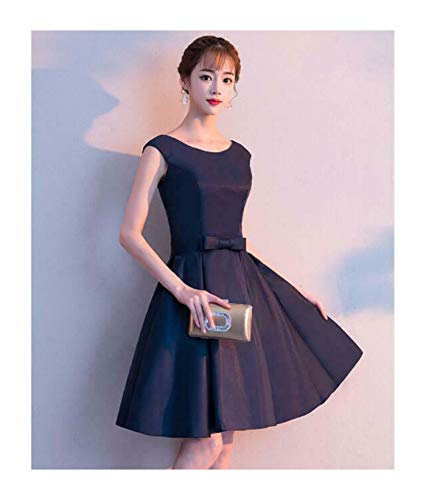 Womens Fashion Floral Lace Back Flared Short Dress Party Evening Graduation 7180 Navy USXXXS = Asian XS Old Navy Floral Dress