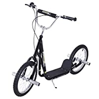 "HOMCOM Adult Teen Push Scooter Kids Children Stunt Scooter Bike Bicycle Ride On 16"" Pneumatic Tyres"
