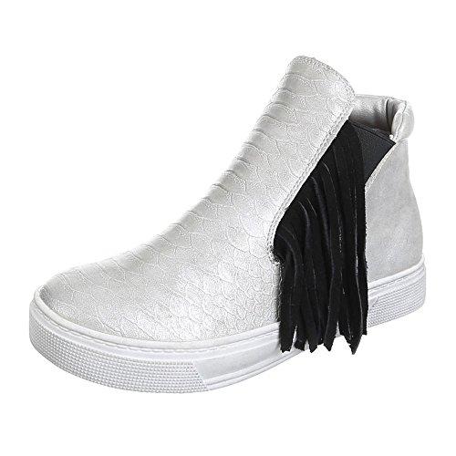 Femme f115 à chaussures de loisir Argent - Argent