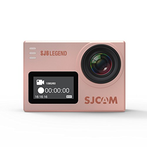SJCAM SJ6 LEGEND 4K Wifi Action Cam Gyro Sports Camera 2.0 Inch Touch Screen 4K 24FPS Novatek NT96660 Panasonic MN34120PA 16MP Outdoor Underwater Camcorder Waterproof Digital Camera Rose Gold