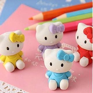 THREE 4 pack/lotschöne Radiergummi gummi Sammlung mode geschenk kinder Puzzle Spielzeug Student Lernen Büromaterial, KT katze Zufällig