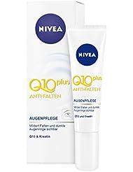 NIVEA 4er Pack Anti-Falten Augenpflege, 4 x 15 ml Tube, Q10 plus